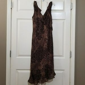 Donna Ricco | Animal Print asymmetric dress NWT 10